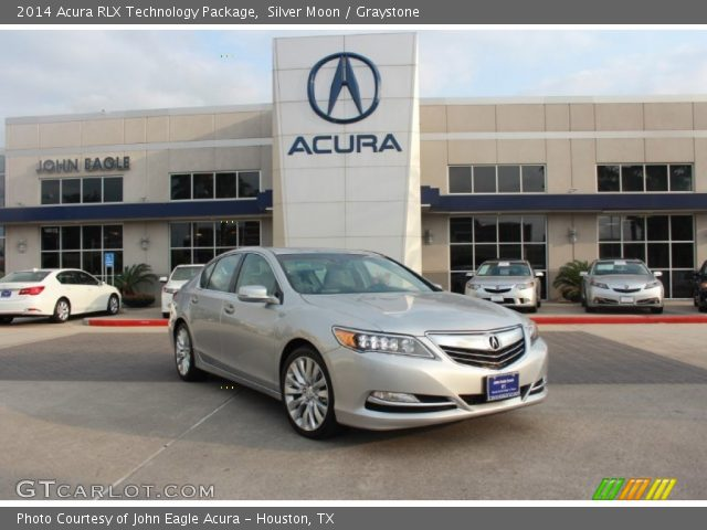 silver moon 2014 acura rlx technology package graystone interior vehicle. Black Bedroom Furniture Sets. Home Design Ideas
