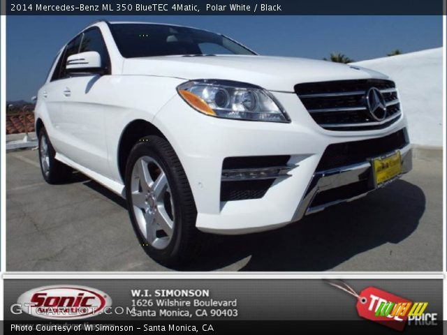 polar white 2014 mercedes benz ml 350 bluetec 4matic black interior vehicle. Black Bedroom Furniture Sets. Home Design Ideas