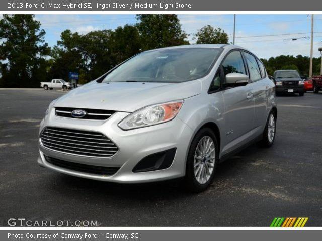 ingot silver 2013 ford c max hybrid se medium light stone interior vehicle. Black Bedroom Furniture Sets. Home Design Ideas