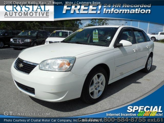 white 2006 chevrolet malibu maxx lt wagon cashmere. Black Bedroom Furniture Sets. Home Design Ideas