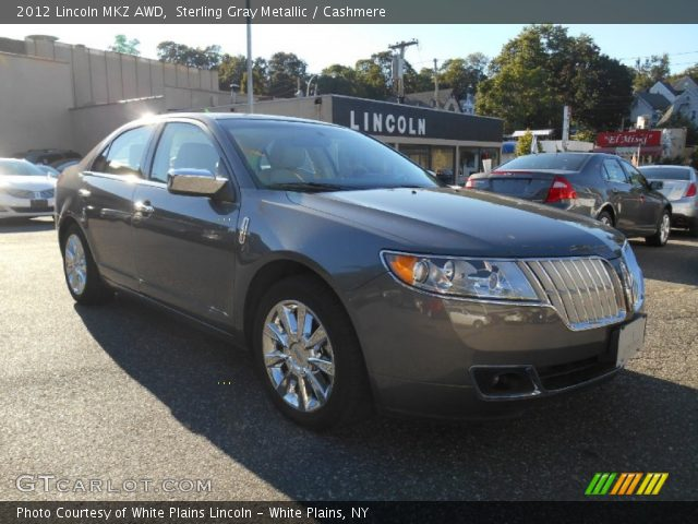 sterling gray metallic 2012 lincoln mkz awd cashmere interior vehicle. Black Bedroom Furniture Sets. Home Design Ideas