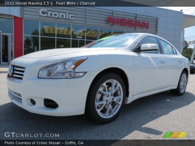 pearl white 2013 nissan maxima 3 5 s charcoal interior. Black Bedroom Furniture Sets. Home Design Ideas