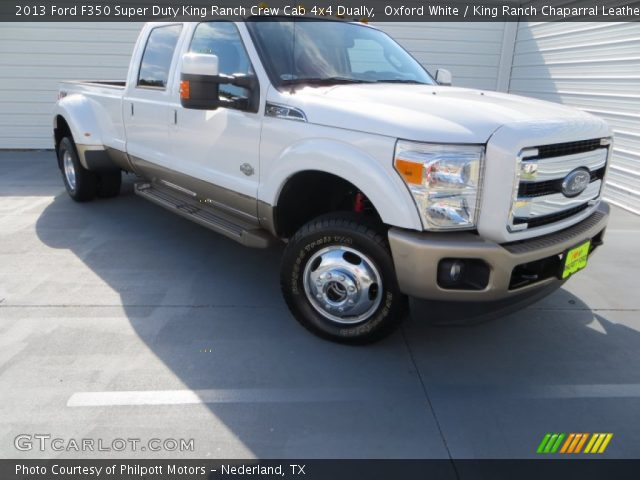 Oxford White 2013 Ford F350 Super Duty King Ranch Crew Cab 4x4 Dually King Ranch Chaparral