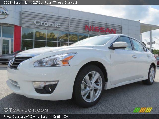 Pearl White 2013 Nissan Altima 2 5 Sl Charcoal