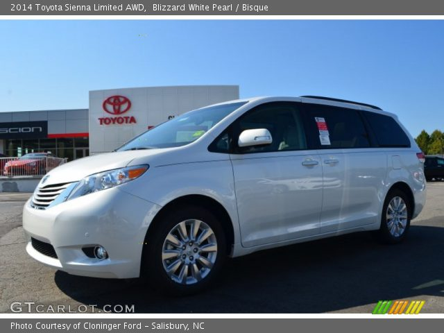 2014 Toyota Sienna Limited AWD in Blizzard White Pearl