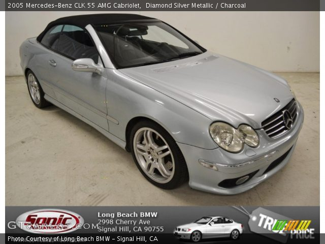 2005 Mercedes-Benz CLK 55 AMG Cabriolet in Diamond Silver Metallic