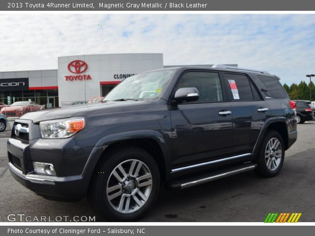 magnetic gray metallic 2013 toyota 4runner limited black leather interior. Black Bedroom Furniture Sets. Home Design Ideas