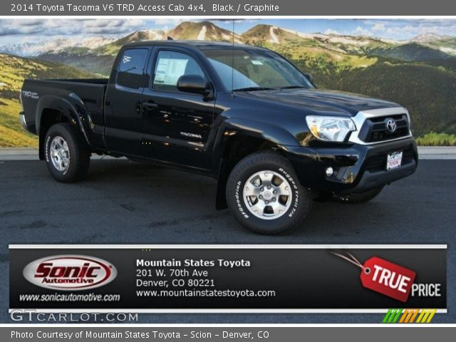 black 2014 toyota tacoma v6 trd access cab 4x4 graphite interior vehicle. Black Bedroom Furniture Sets. Home Design Ideas