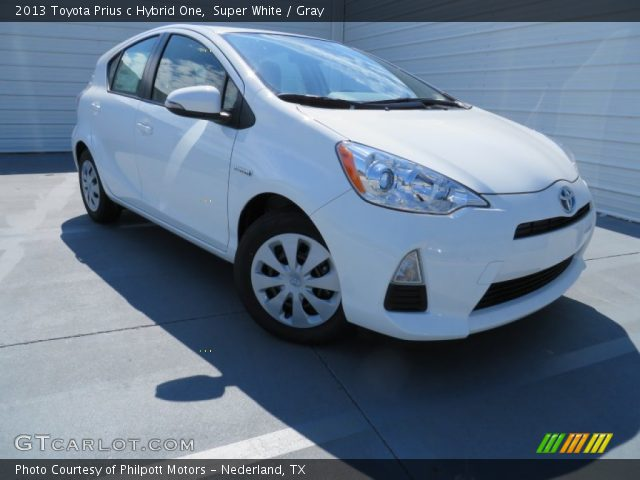super white 2013 toyota prius c hybrid one gray interior vehicle archive. Black Bedroom Furniture Sets. Home Design Ideas