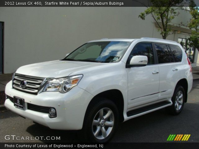 starfire white pearl 2012 lexus gx 460 sepia auburn bubinga interior. Black Bedroom Furniture Sets. Home Design Ideas