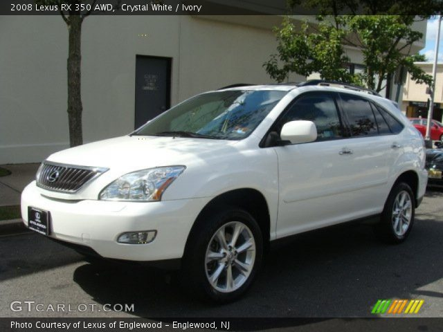 crystal white 2008 lexus rx 350 awd ivory interior vehicle archive 86206877. Black Bedroom Furniture Sets. Home Design Ideas
