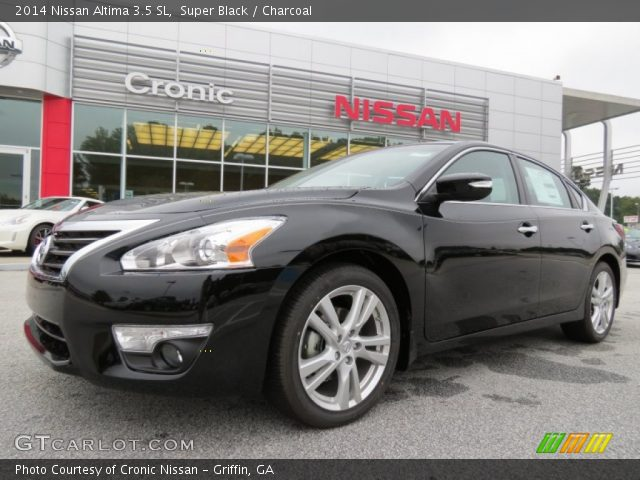 super black 2014 nissan altima 3 5 sl charcoal interior vehicle archive. Black Bedroom Furniture Sets. Home Design Ideas