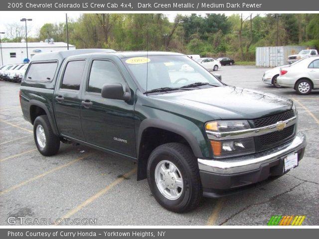 Dark green metallic 2005 chevrolet colorado ls crew cab - 2005 chevy colorado interior parts ...