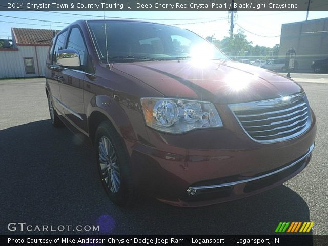 deep cherry red crystal pearl 2014 chrysler town country touring l black light graystone. Black Bedroom Furniture Sets. Home Design Ideas