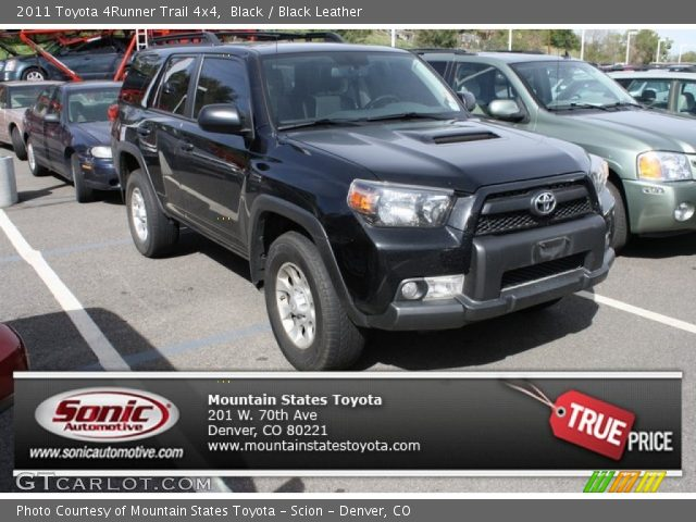 black 2011 toyota 4runner trail 4x4 black leather. Black Bedroom Furniture Sets. Home Design Ideas