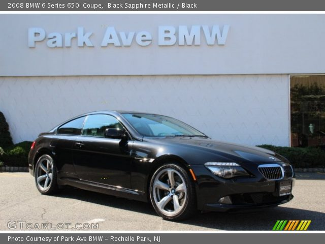 black sapphire metallic 2008 bmw 6 series 650i coupe. Black Bedroom Furniture Sets. Home Design Ideas