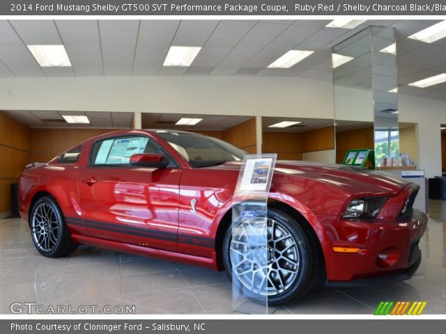 ruby red 2014 ford mustang shelby gt500 svt performance package coupe shelby charcoal black. Black Bedroom Furniture Sets. Home Design Ideas