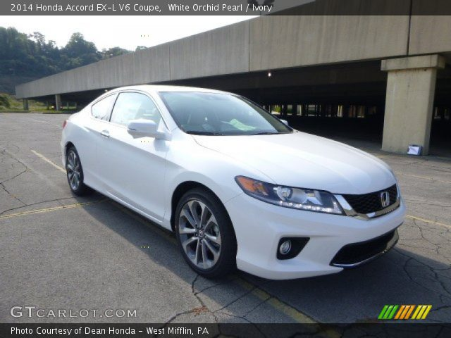 White orchid pearl 2014 honda accord ex l v6 coupe for 2014 honda accord white