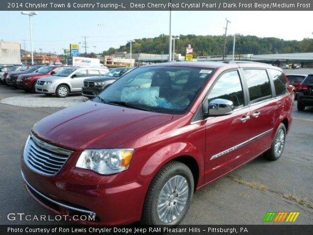 deep cherry red crystal pearl 2014 chrysler town country touring l dark frost beige medium. Black Bedroom Furniture Sets. Home Design Ideas