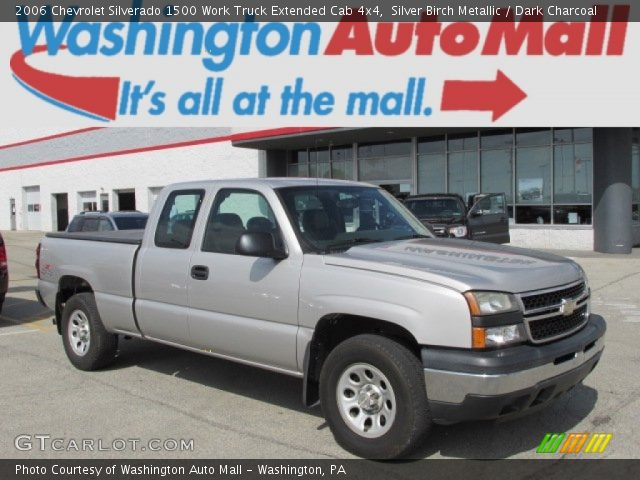 2006 Chevrolet Silverado 1500 Work Truck Extended Cab 4x4 in Silver Birch Metallic