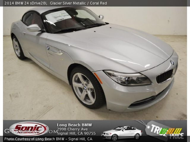 glacier silver metallic 2014 bmw z4 sdrive28i coral. Black Bedroom Furniture Sets. Home Design Ideas