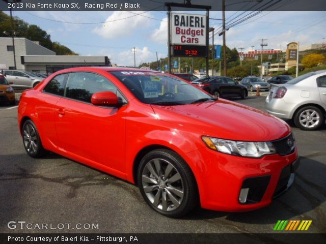 racing red 2013 kia forte koup sx black interior vehicle archive 86401968. Black Bedroom Furniture Sets. Home Design Ideas