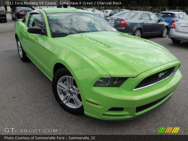 gotta have it green 2013 ford mustang v6 coupe. Black Bedroom Furniture Sets. Home Design Ideas