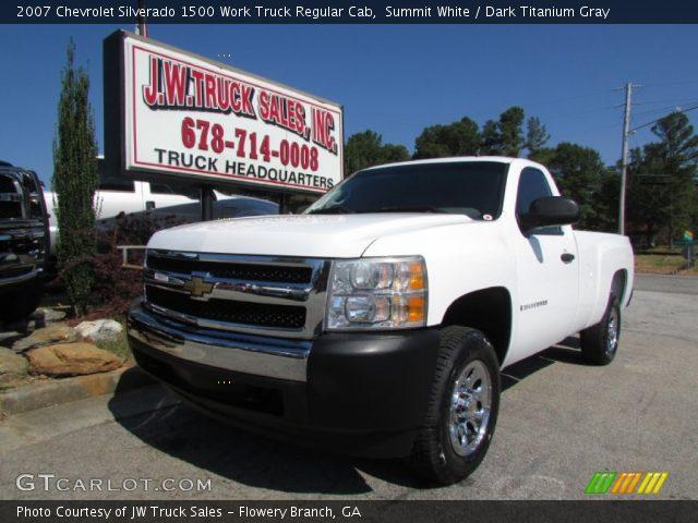 2007 Chevrolet Silverado 1500 Work Truck Regular Cab in Summit White