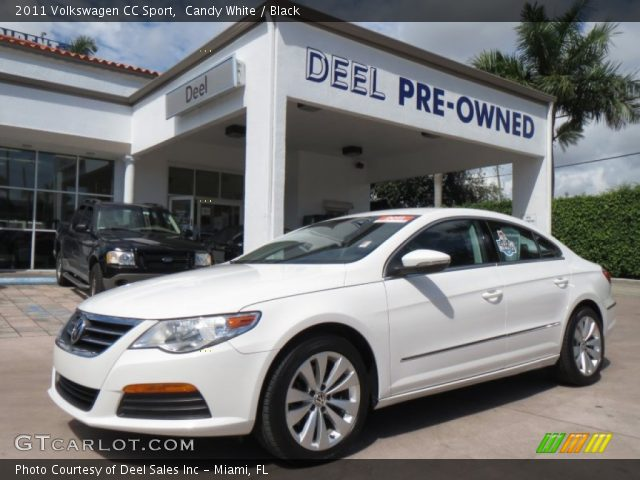 candy white 2011 volkswagen cc sport black interior vehicle archive 86450547. Black Bedroom Furniture Sets. Home Design Ideas