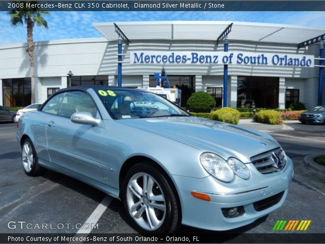 2008 Mercedes-Benz CLK 350 Cabriolet in Diamond Silver Metallic