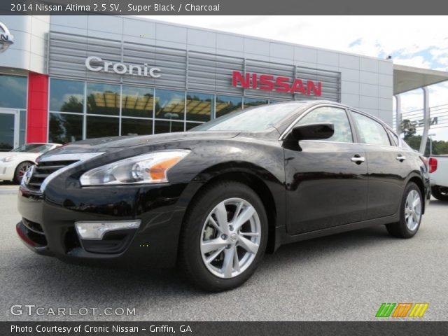 Super Black 2014 Nissan Altima 2 5 Sv Charcoal Interior Vehicle Archive