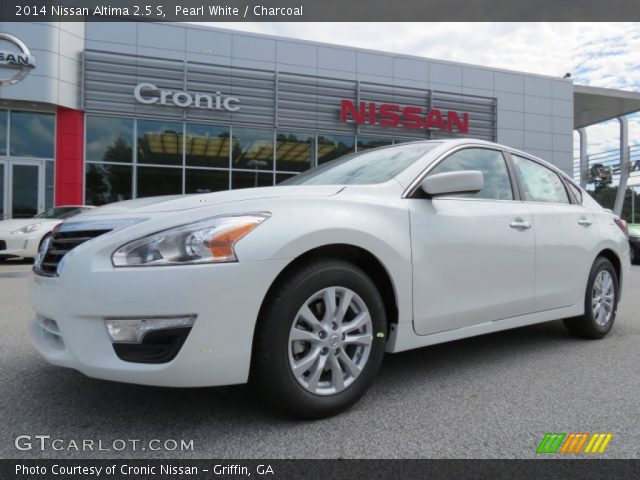 pearl white 2014 nissan altima 2 5 s charcoal interior vehicle archive. Black Bedroom Furniture Sets. Home Design Ideas