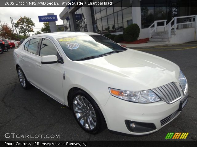 white suede 2009 lincoln mks awd sedan charcoal black. Black Bedroom Furniture Sets. Home Design Ideas