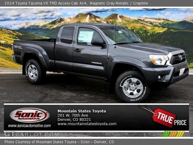 magnetic gray metallic 2014 toyota tacoma v6 trd access cab 4x4 graphite interior gtcarlot. Black Bedroom Furniture Sets. Home Design Ideas