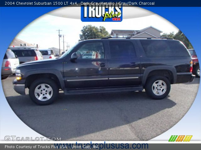 dark gray metallic 2004 chevrolet suburban 1500 lt 4x4. Black Bedroom Furniture Sets. Home Design Ideas