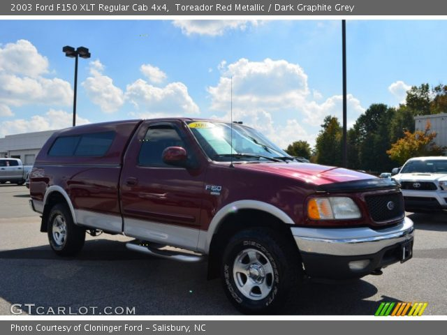 2003 Ford F150 XLT Regular Cab 4x4 in Toreador Red Metallic