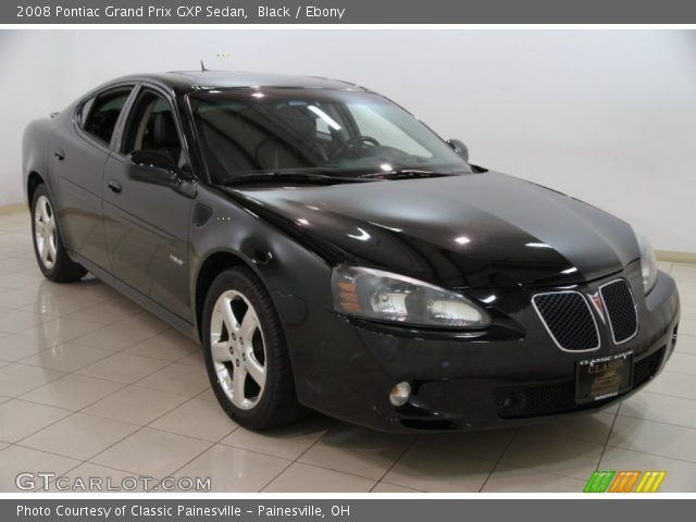 Black 2008 Pontiac Grand Prix Gxp Sedan Ebony Interior