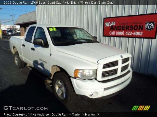 bright white 2002 dodge ram 1500 sport quad cab 4x4 dark slate gray interior. Black Bedroom Furniture Sets. Home Design Ideas