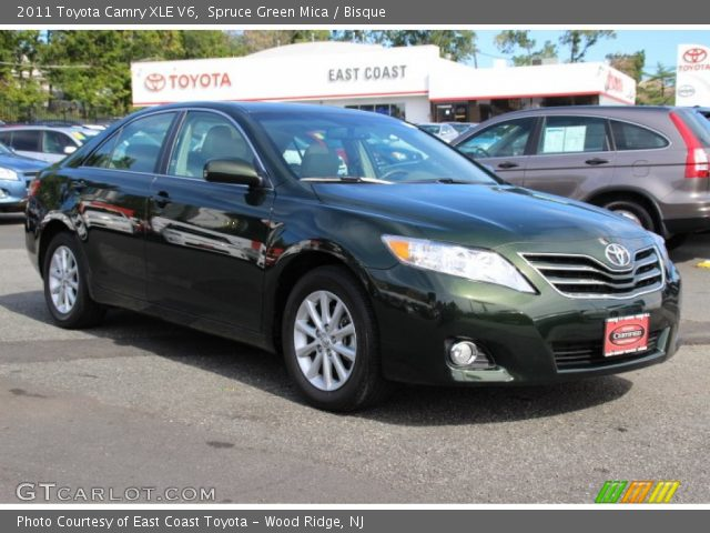 spruce green mica 2011 toyota camry xle v6 bisque. Black Bedroom Furniture Sets. Home Design Ideas