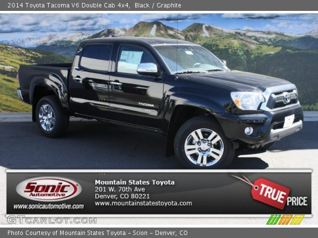 black 2014 toyota tacoma v6 double cab 4x4 graphite interior vehicle. Black Bedroom Furniture Sets. Home Design Ideas