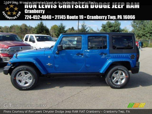 2014 Jeep Wrangler Hydro Blue Hydro blue pearl 2014 jeep