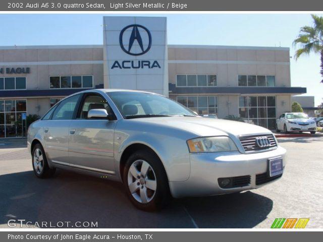 light silver metallic 2002 audi a6 3 0 quattro sedan beige interior vehicle. Black Bedroom Furniture Sets. Home Design Ideas