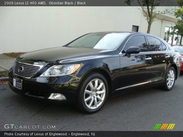 obsidian black 2009 lexus ls 460 awd black interior. Black Bedroom Furniture Sets. Home Design Ideas