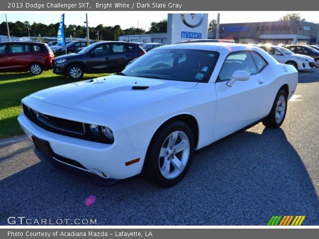 bright white 2013 dodge challenger sxt dark slate gray interior. Cars Review. Best American Auto & Cars Review