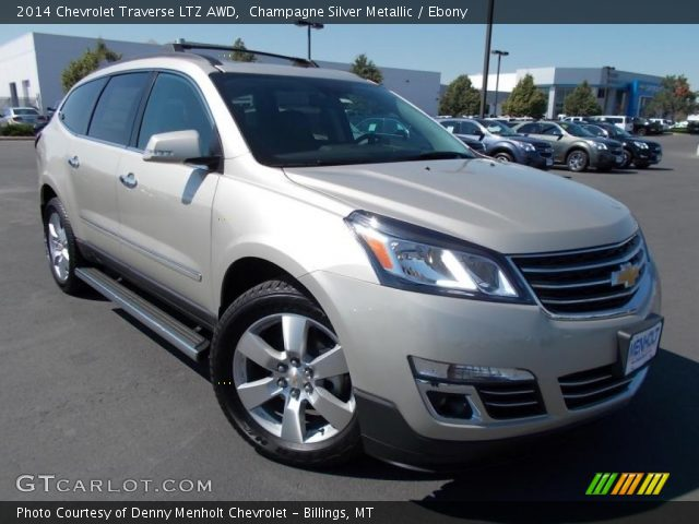 champagne silver metallic 2014 chevrolet traverse ltz. Black Bedroom Furniture Sets. Home Design Ideas