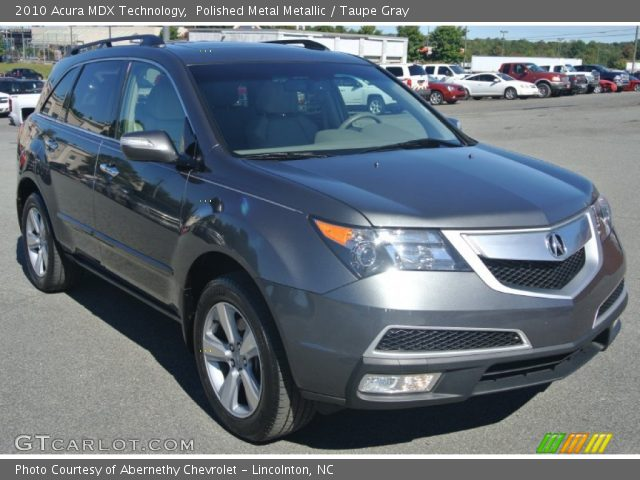 Polished Metal Metallic 2010 Acura Mdx Technology Taupe Gray Interior