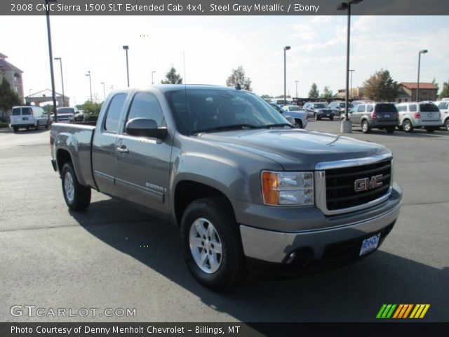 steel gray metallic 2008 gmc sierra 1500 slt extended. Black Bedroom Furniture Sets. Home Design Ideas