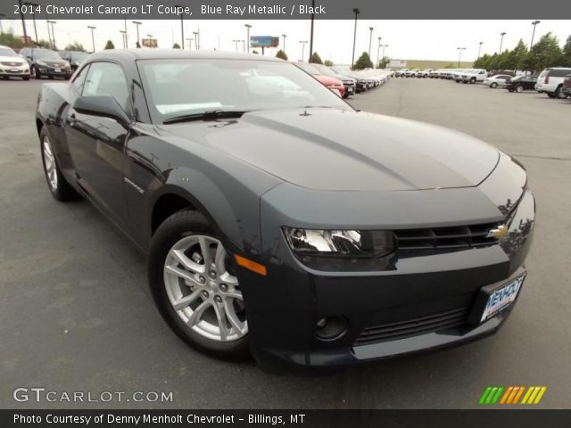 blue ray metallic 2014 chevrolet camaro lt coupe black. Black Bedroom Furniture Sets. Home Design Ideas