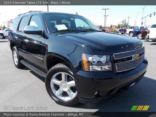 black 2014 chevrolet tahoe ltz 4x4 ebony interior vehicle archive 86615751. Black Bedroom Furniture Sets. Home Design Ideas