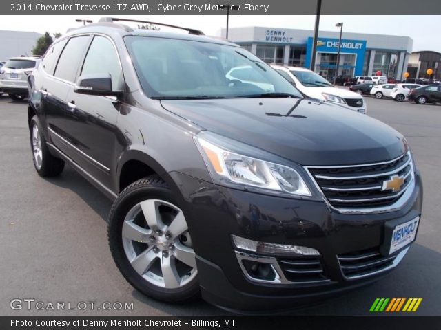 cyber grey metallic 2014 chevrolet traverse ltz awd. Black Bedroom Furniture Sets. Home Design Ideas